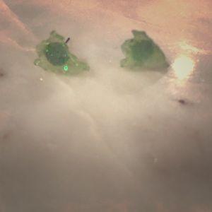 Slimer Green glitter ghost earrings